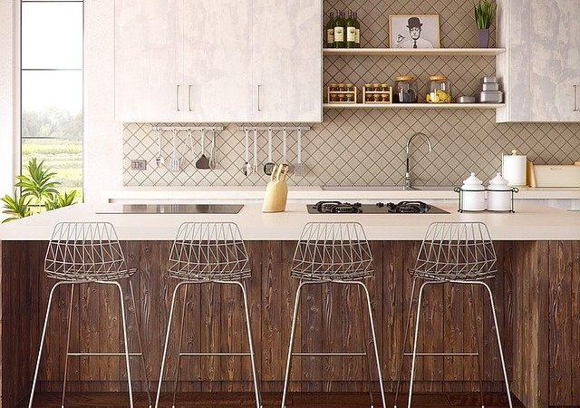 Focus sur la décoration d'une petite cuisine